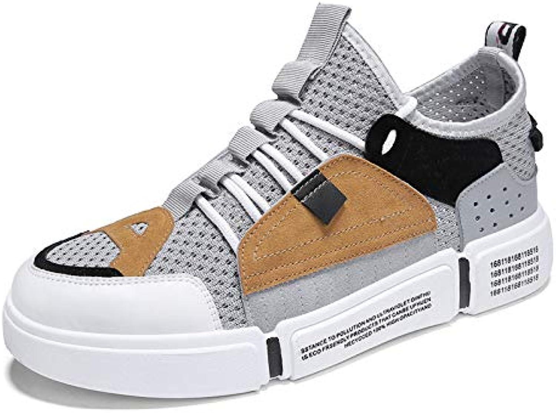 Na-Zh Herren Turnschuhe Casual Schuhe Lässige und atmungsaktive alte Freizeitschuhe Freizeitschuhe Freizeitschuhe für Männer, grau, 42  5c4341