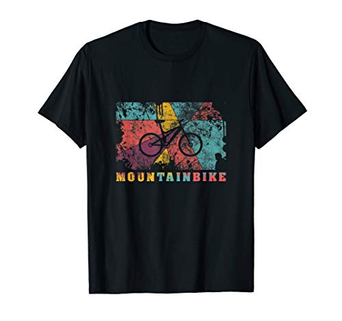 Mountain Biking Pop Art Color Splash Effect MTB Fully T-Shirt