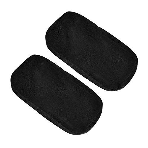 2pcs Almohadillas de Espuma viscoelástica para reposabrazos de Silla cómoda Alfombra de reposabrazos para Silla de Oficina para Codo (Negro)