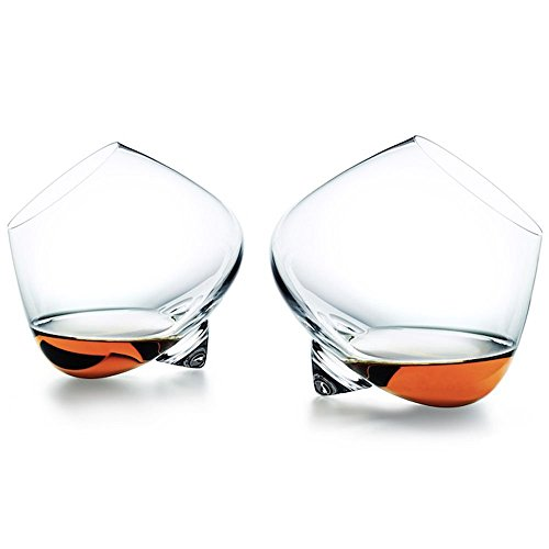 Ecentaur Whiskey Tumblers Whiskey Glasses Wobbling Glass Cups Set of 2...
