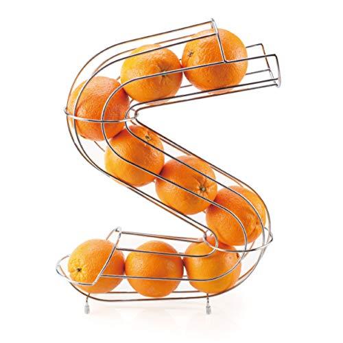 """BERELA-ZOWY- Frutero en Forma de """"S"""", Dispensador de Naranjas, Frutero de Metal."""