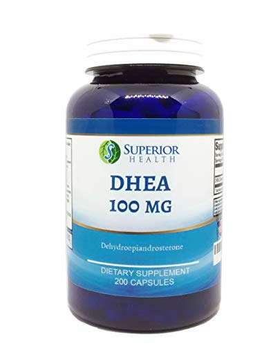 DHEA 100mg 200 Capsules, 6 Month Supply, Supports Hormone Balance