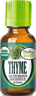 Organic Thyme Essential Oil (100% Pure - USDA Certified Organic) Best Therapeutic Grade Essential Oil - 30ml