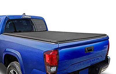 Tyger Auto T1 Soft Roll Up Truck Bed Tonneau Cover Compatible with 2016-2021 Toyota Tacoma (Does Not Fit Trail Special Edition with Storage Boxes) | Fleetside 6' Bed | TG-BC1T9045