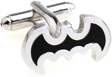 SataanReaper Presents Year-end gift depot Black Batman Shape Links Me for Cuff Brass