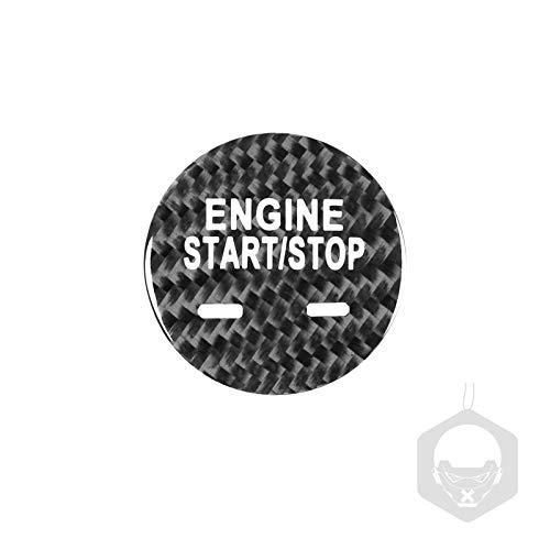 Etiqueta engomada arranque coche El inicio del motor del coche de fibra de carbono detiene la etiqueta engomada del anillo de encendido de la llave de encendido, pegatinas de encendido sin llaves, par
