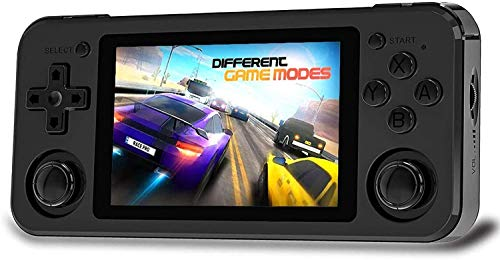 RG351P Handheld Game Console, Retro Game Console Open Source System RK3326 Chip, Free with 128G TF Card and 2500 Classic Game Video Game Console 3.5 Inch IPS Screen Built-in 3500mAh Battery