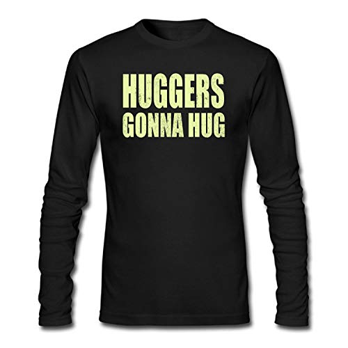 shshiqq Men's Huggers Gonna Hug Long Sleeve T-Shirt Black