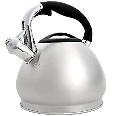 3.6 Quart Stove Top Whistling Tea Kettle Stainless Steel Teapot with Cool Touch Ergonomic Handle
