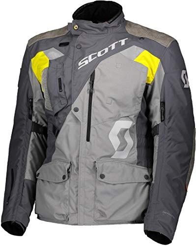 Scott Dualraid Dryo Motorrad Jacke grau/gelb 2022: Größe: M (48/50)