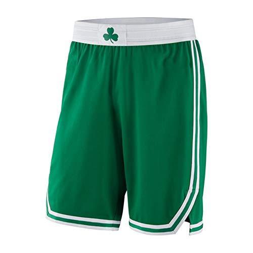 FGRGH Cēltìcs - Pantalones cortos de baloncesto para hombre, 0 Tátūm para entrenamiento de fitness, casual, transpirables y de secado rápido (S~2XL) verde-XL
