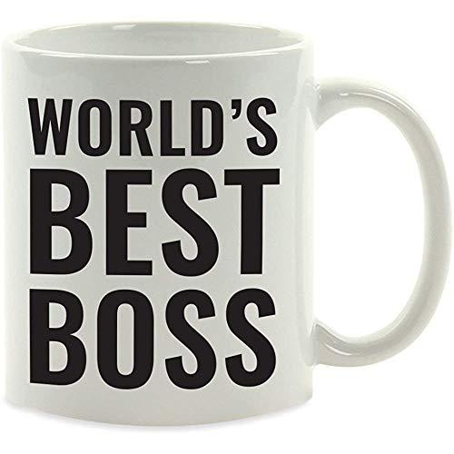 Kantoor koffiehaver geschenk, de beste chef-ter wereld, per stuk, verjaardag, Kerstmis, Vaderdag, broer cadeau-ideeën