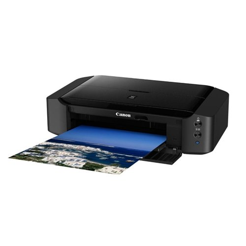 Canon PIXMA iP8750 Drucker Farbtintenstrahl Multifunktionsgerät DIN A3+ (Bürodrucker, Fotodruck, 9.600 x 2.400 dpi, WiFi, WLAN, USB, Cloud-Link, 6 separate Tinten), schwarz