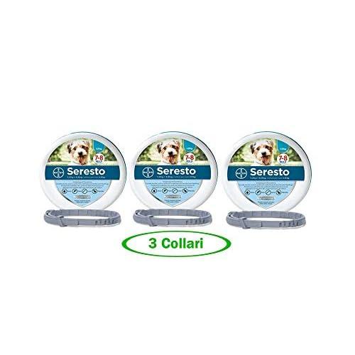 Bayer SERESTO Collare Cane Fino a 8 kg - Offerta 3 Collari