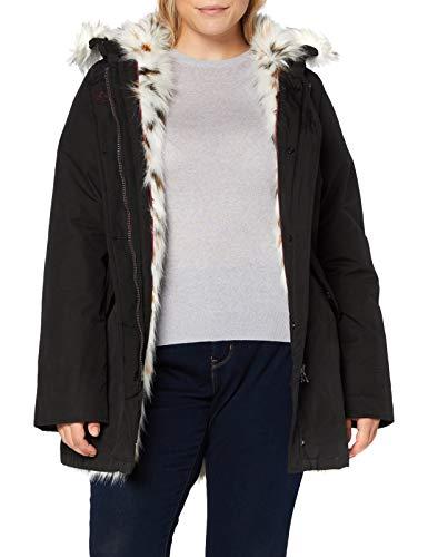 Canadian Classics Damen Fundy Bay Fake Fur Parka, Schwarz (Black Bla), 44 (Herstellergroesse: XL (IT50)