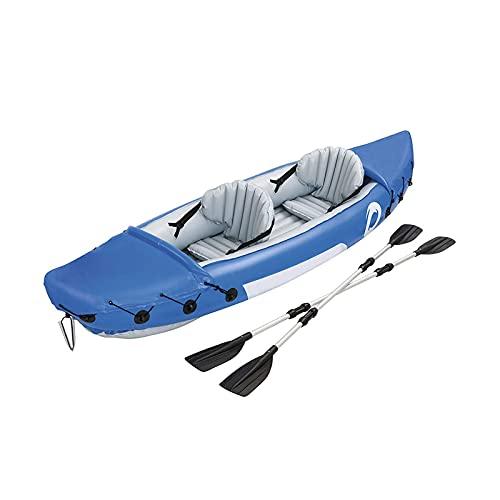 Gaoweipeng Doble Personas Kayak Hinchable,Plegable Conveniente Azul Bote Inflable PVC Ambiental Espesar Seguridad Estabilidad Comodidad Piragua