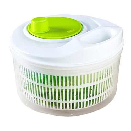 Cabilock Spinner de Ensalada de Plástico Lavadora Secadora Secadora de Lechuga Secadora de Ensalada Centrifugadora de Verduras para Restaurante en Casa