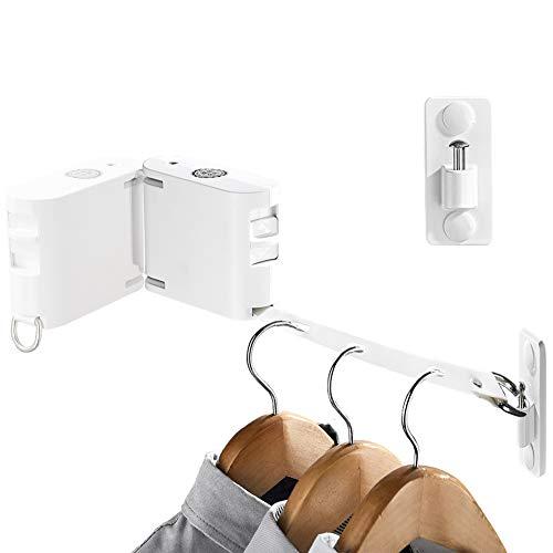 LIVEHITOP Tendedero Retractable, Giratorio 1 a 2 con Orificio Ajustable 4.2m Cuerda Retráctil Interior y Exterior