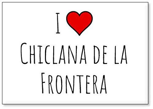 Mundus Souvenirs - Amo Chiclana de la Frontera, Imán para Nevera (diseño 2)