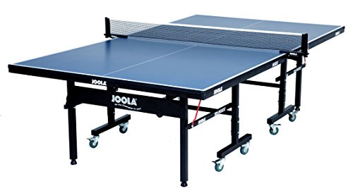 JOOLA Inside - Professional MDF Indoor Table Tennis Table with Quick Clamp Ping Pong Net and Post Set - 10 Minute Easy Assembly - USATT Approved, 18mm