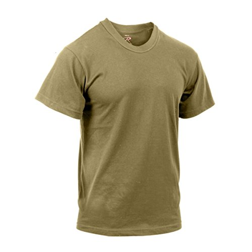 3-Pack of Rothco AR 670-1 Compliant Coyote Brown Military T-Shirts, Large
