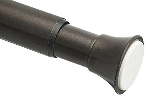 Amazon Basics Teleskop-Duschvorhangstange zum Einklemmen, 91-137 cm, Bronze