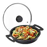 Relaxdays 10031496 Sartén Antiadherente, con Tapa, para Cocina y Barbacoa, Aluminio, 28 cm de diámetro, Color Antracita,...
