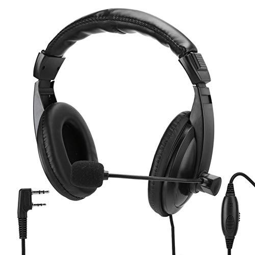 Gatuxe Auricular, Walkie Talkie Profesional de 2 Pines, portátil con Altavoz de micrófono para BAOFENG UV-5R Radio para Quansheng/WOU/TYT para Kenwood TK-3107