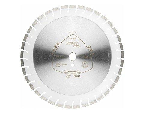 Klingspor 325201 Discos de Corte Diamantados para Tronzadoras Motorizadas/Cortadura de Juntas/Sierras de Mesa, DT 600 U, 450 mm x 25.4 mm, 4300 RPM