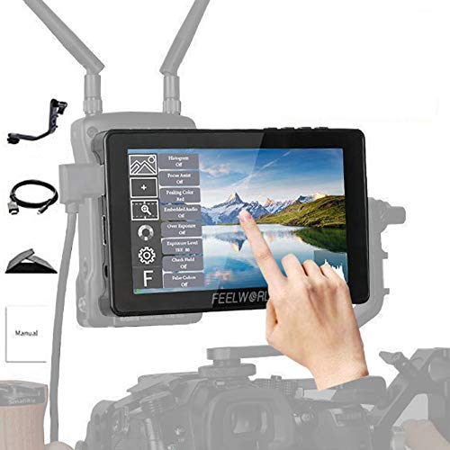FEELWORLD F5 Pro 5.5 inch DSLR Camera Field Touch Screen Monitor Small Full HD 1920x1080 IPS Video Assist 4K HDMI Input Output Tilt Arm Suitable for Wireless Video Transmission System