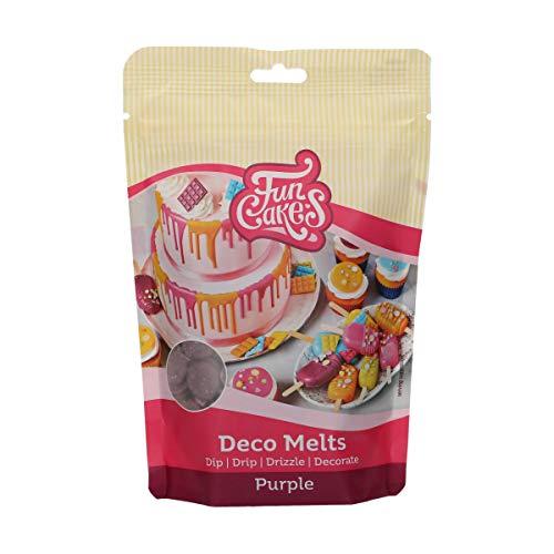 FunCakes Deco Melts lila - tauchen, drippen, dippen und dekorieren! In der Mikrowelle schmelzen und in jede Form gießen, 250 g