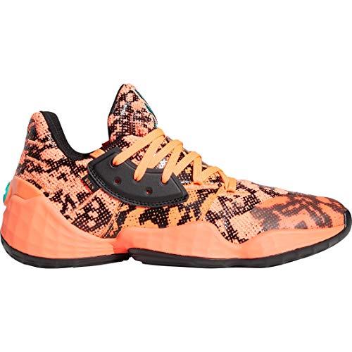 Adidas Performance Harden Vol. 4 - Zapatillas de baloncesto para hombre, coral / negro, 13.5 UK - 49 1/3 EU - 14 US