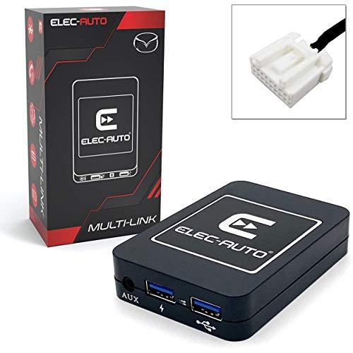Interfaz Bluetooth - USB MP3 - Auxiliar para el coche MAZDA | Kit de transmisión de audio a manos libres | Cargador | Jack Jack | Carcasa oculta | Accesorio para la radio del coche | Accesorio para la