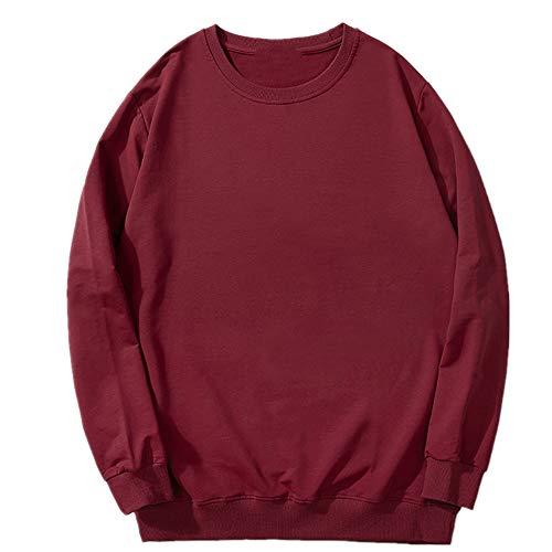 Suéter de cuello redondo sólido suelto de los hombres de gran tamaño con grasa extra para el suéter de los hombres