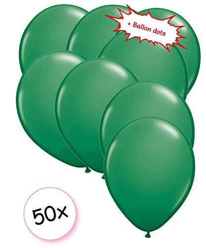 Ballonnen Blauw 50 stuks 27 cm + Ballon Lijm Plakkers - Plafond Stickers