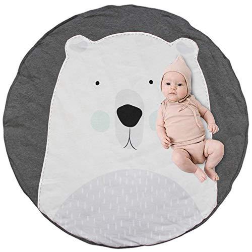 Alfombrilla de juego para bebés, Alfombrillas para bebé unisex, suave cálido grueso acolchado, Estera de Arrastre para bebé, Patrón de Dibujos Animados Alfombras (Oso)