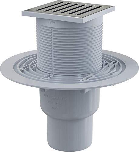 Bodenablauf Senkrecht Duschablauf Badablauf Design Messing begehbare Dusche DN 50 Siphon Geruchsverschluss, sehr flach