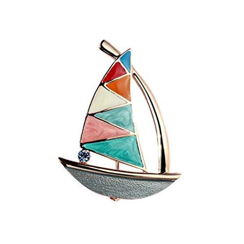 PRETYZOOM Broches de estilo simple con forma de velero, broche de estilo nico, accesorio para disfraz, regalo de graduacin para estudiantes para clase de 2020 suministros de fiesta
