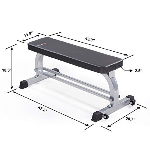 Flat Weight Workout Bench, Cheertran 700LBS Exercise Bench for Weight Training and Ab Exercise - Utility Workout Benches for Home