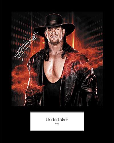 Frame Smart The Undertaker WWE #4 | Signierter Fotodruck | 10x8 Größe passt 10x8 Zoll Rahmen | Maschinenschnitt | Fotoanzeige | Geschenk Sammlerstück