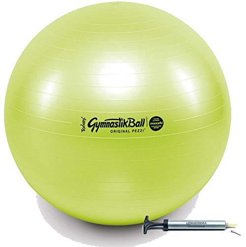 Ledragomma Pezzi Ball Standard 65 cm Acid grün Gymnastikball Sitzball + Original Pezzi-Ball Pumpe