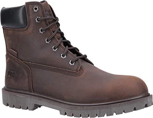 Timberland Pro Botas de seguridad con cordones de cuero icónico para hombre, color Marrón, talla 45 EU