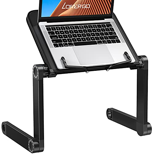 LORYERGO Book Stand height Laptop Stand Holder Up to 15.6' Laptop, Book Holder Tray with Page Paper Clips Ergonomic Portable Bed Book Holder for Reading & Work