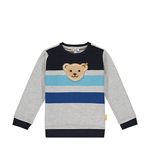 Steiff Baby-Jungen Sweatshirt, Grau (Quarry 9007), 86 (Herstellergröße: 086)