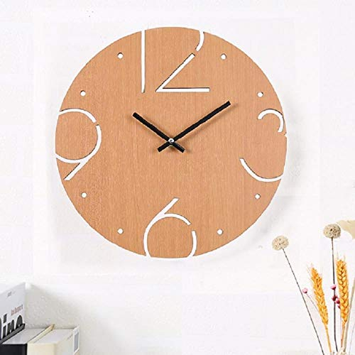 30 cm Wooden Wall Clocks Simple Round Fun Digitale Household Charts Creative Decoration Grote cijfers Artistic Natural In Wall Clocks van Home & Garden On Aliexpress - 11.11 Double 11 Singles Day