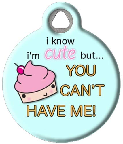 Dog Tag Art Custom Pet ID Tag for Dogs - Cute as a Cupcake - Large - 1.25 inch