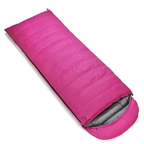 DAFREW Sac de Couchage d'enveloppe, Sac de Couchage extérieur Quatre Saisons avec Sac de Compression (Couleur : Pink, Taille : 2.5KG)