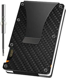 Porta Carte Di Credito Portafoglio Fibra di carbonio Blocco RFID Anticlonazione Minimalista Portafoglio da uomo slim Regal...