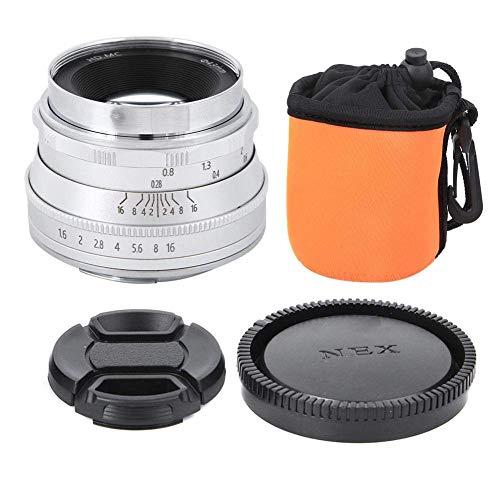 Lente de 35 mm f1.6 Foco Fijo de Alta definición sin Espejo for Nikon Z6 Z7 Z50, Enfoque Manual Medio capítulo de la Lente, Metal y Material óptico de Cristal (Negro) ZHNGHENG (Color : Silver)