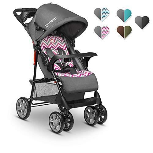 Lionelo Emma Plus kinderwagen kindersportwagen licht modern klein Buggy met ligpositie inklapbaar (Pink Scandi)